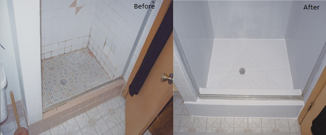 Before and After Shower Replacement
