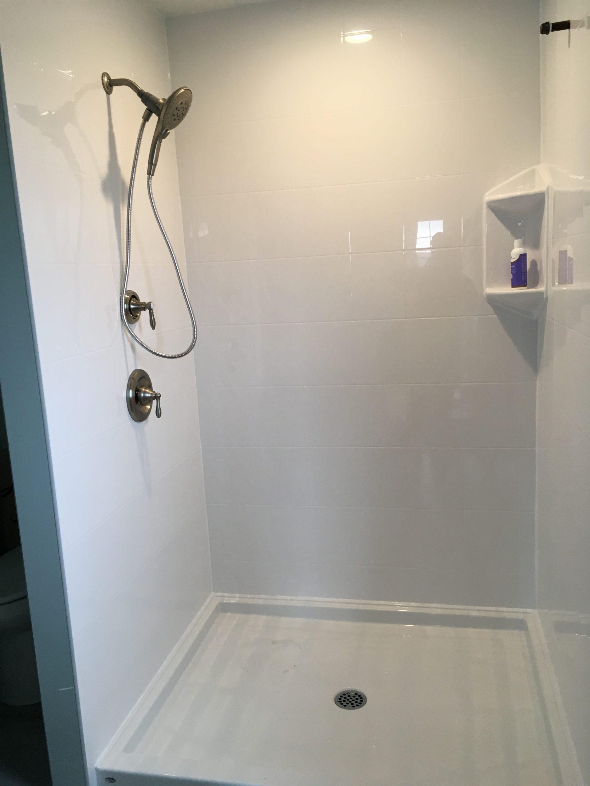 New Shower Floor and Tile by Jim Brown Interior Reglazing, Okanagan