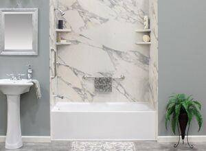 Reglazed BathTub with Stone Tiles