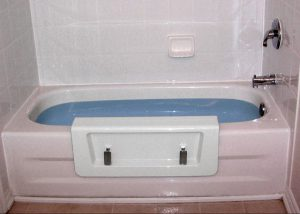 Tub Walk Thru with Door for Easy Access and Less Mess