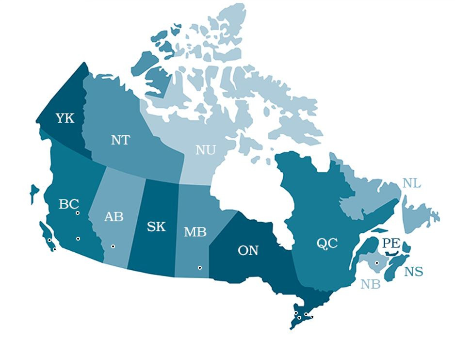 Bathmaster Locations Around Canada